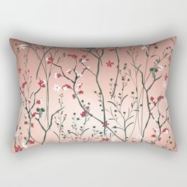 Floral, Rose Gold Sky Rectangular Pillow