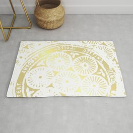 power of one: white gold Rug