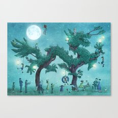 Dragon Topiary - Night  Canvas Print