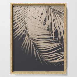Palm Leaves Sepia Vibes #1 #tropical #decor #art #society6 Serving Tray