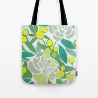 floral pattern Tote Bags featuring floral pattern by frameless
