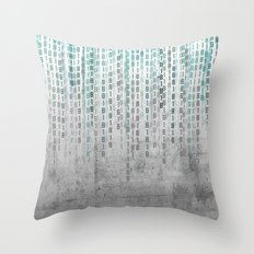 Concrete Binary Code Throw Pillow
