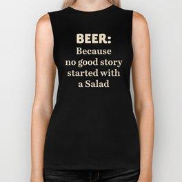 Beer illustration quote, vintage Pub sign, Restaurant, fine art, mancave, food, drink, private club Biker Tank