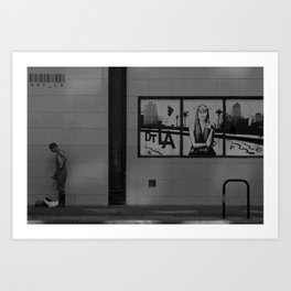 Los Angeles Downtown Man Art Print