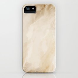 Brown Turquiose Marble texture iPhone Case