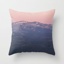 Sierra Nevada Mountains at Sunset Throw Pillow