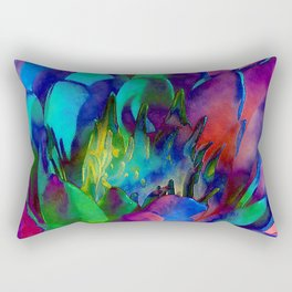 Lilly Psychedelic Rectangular Pillow