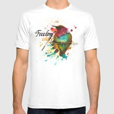 Freedom of colors Mens Fitted Tee White MEDIUM