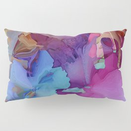 Alcohol Ink Flowers Pillow Sham