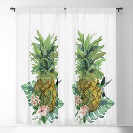 Tropical Pineapple Blackout Curtain