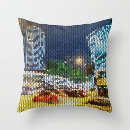 Knitted Orchard-Scotts Throw Pillow