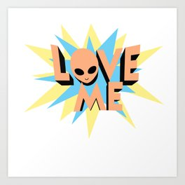 Alien Love Art Print