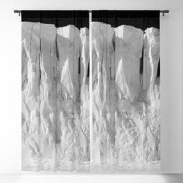 Antarctic Explorer beneath the Glacier black and white photography / photographs by Herbert Ponting Blackout Curtain