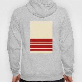 Wheat Maroon Wall Stripes Hoody