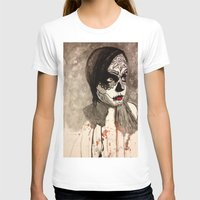 sugar skull T-shirts featuring sugar skull  by Joedunnz