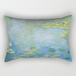 Water Lilies 1906 by Claude Monet Rectangular Pillow