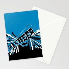 Blue Cheerleader Stationery Cards