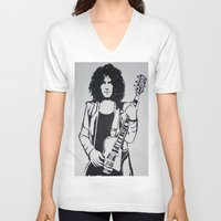 marc johns V-neck T-shirts featuring Marc Bolan by Kayt Hester Masking Tape