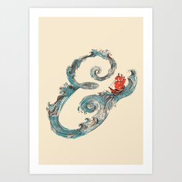 Water Ampesand Art Print