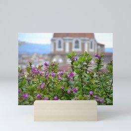 Roof Top Garden in Florence (3/5) Mini Art Print