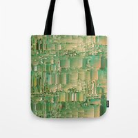 bar Tote Bags featuring Energy bar by Okti