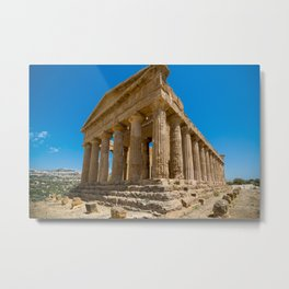Temple ruined in Greece Metal Print