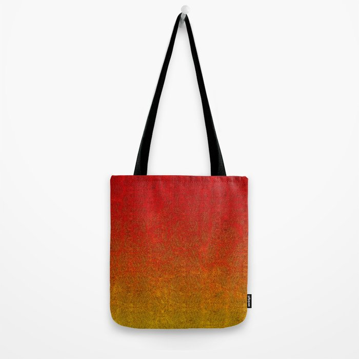 Flame Glitter Gradient Tote Bag