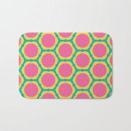 Abstract Pink and Yellow Pitaya Fruit Pattern Bath Mat