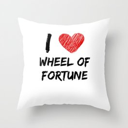 I Love Wheel of Fortune Throw Pillow