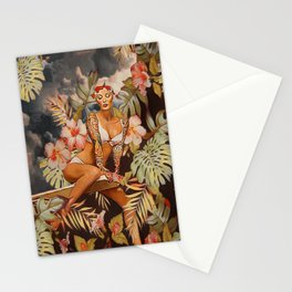 Swimming in the jungle Stationery Cards