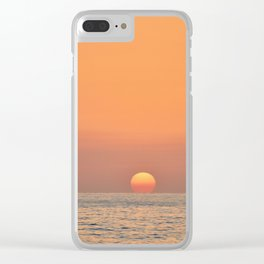 Sunset and Sea Clear iPhone Case