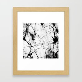 Marble Concrete Stone Texture Pattern Effect Dark Grain Framed Art Print