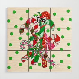 Candy Cane Party Wood Wall Art