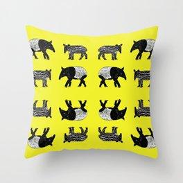 Dance of the Tapirs Throw Pillow