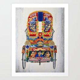 Dhaka Rickshaw Art Print
