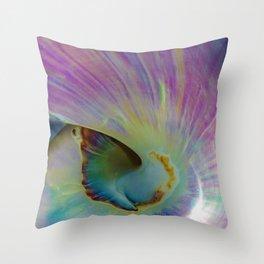 Spiraling Shell Throw Pillow