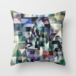 "Robert Delaunay ""Windows on the City No. 3"" Throw Pillow"