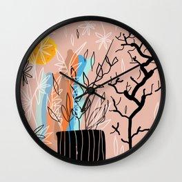 rain of leaves Wall Clock