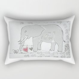 Elephants love Rectangular Pillow