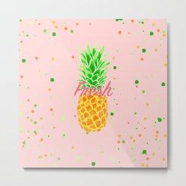 Pineapple Love 3 Metal Print