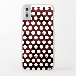Metal Dots Clear iPhone Case
