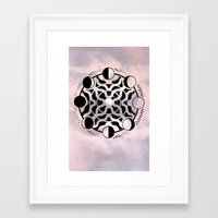 moon phase Framed Art Prints featuring Moon Phase Mandala by Ancient Mountain Sacred Visuals