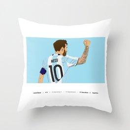 Leo Messi | LM10 Throw Pillow