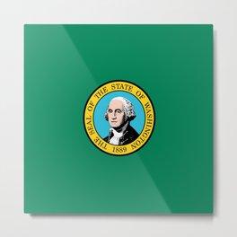 flag Washington,america,usa,Alki,Evergreen State, Washingtonian,Olympia,seattle,Spokane Metal Print