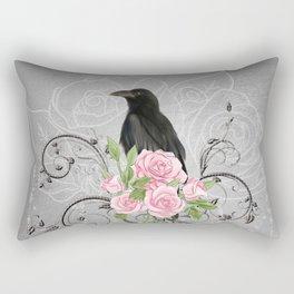 Wonderful crow with flowers Rectangular Pillow