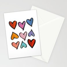 Hearts 2 Stationery Cards