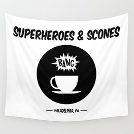 Superheroes and Scones Wall Tapestry