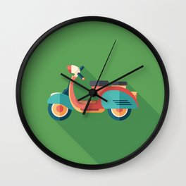 Vintage Urban Scooter Wall Clock