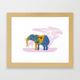 Elephant, Africa's Rainbow Framed Art Print