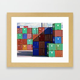 Colorful containers II Framed Art Print